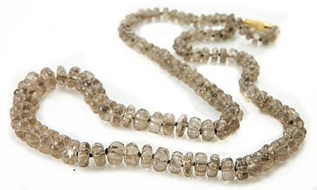 Black Smoky Quartz Silver Setting Necklaces