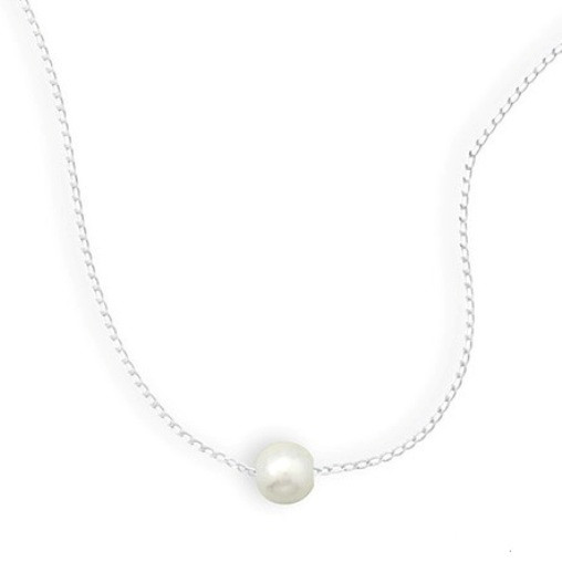 PEARL SILVER SETTING WHITE CLASSIC NECKLACES