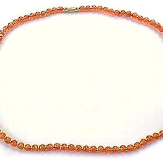Orange Carnelian Beaded Necklaces 17 Inches