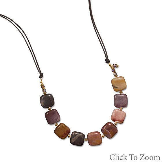 Multi-color Jasper Beaded Necklaces 22 Inches