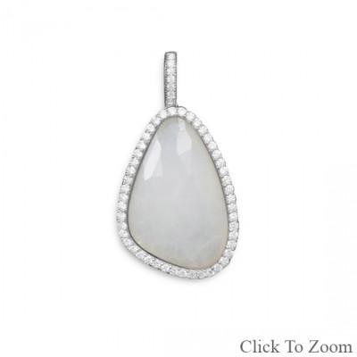 Gray Jade Silver Setting Pendants 1.41 Inches