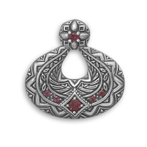 Red Garnet Silver Setting American-southwest Pendants 1.18 Inches