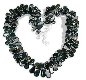 Brown Gray Smoky Quartz Beaded Drop Necklaces 16 Inches
