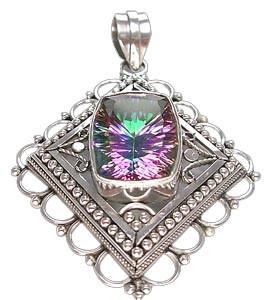 Sterling Silver Mystic Quartz Pendant