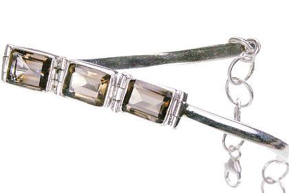 Gray Smoky Quartz German Silver Bracelets 7 Inches