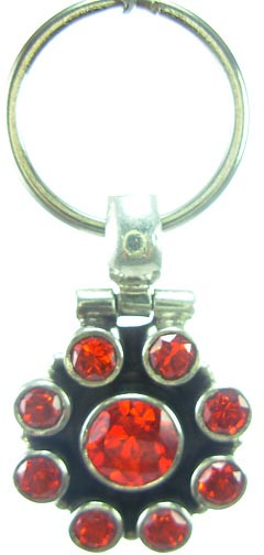 Red Cubic Zirconia Silver Setting Pets Pendants