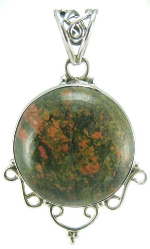Heart Unakite Pendants
