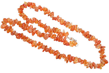 CARNELIAN BEADED ORANGE CHIPPED NECKLACES