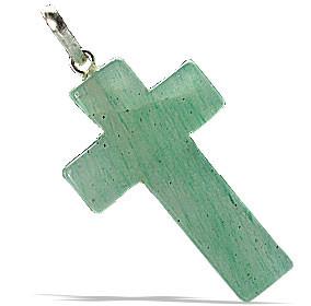 Light Green Aventurine Cross Pendant