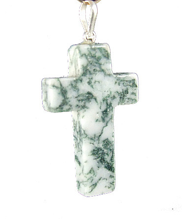 Tree Agate Cross Pendant