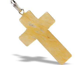 Yellow Aventurine Cross Pendant