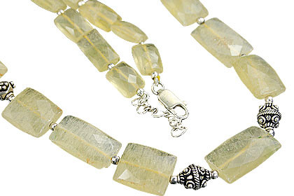 Yellow Citrine Beaded Ethnic Necklaces 442 Inches
