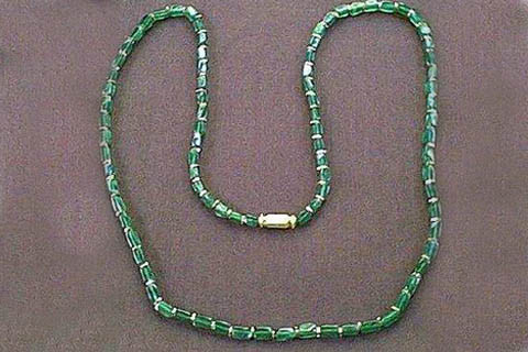 Green Aventurine Beaded Necklaces 24 Inches