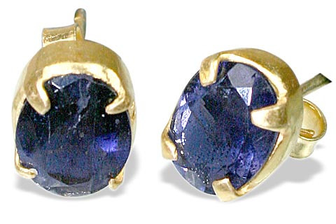 Post Iolite Earrings