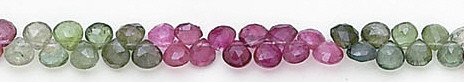 Multi-color Tourmaline Beaded Briolettes Beads 5 Inches