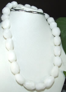 White Onyx Beaded Faceted Beads 16 Inches