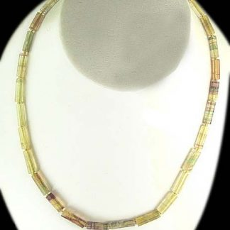 Purple Yellow Multi-color Fluorite Beaded Necklaces 425 Inches