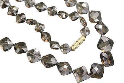 Brown Smoky Quartz Beaded Necklaces 24 Inches