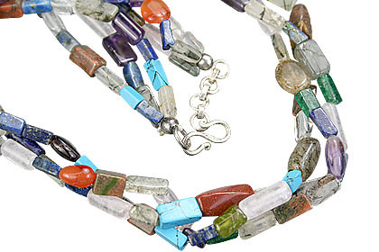 Multistrand Multi-stone Necklaces