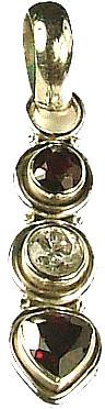 Red Garnet Cubic Zirconia Silver Setting Pendants