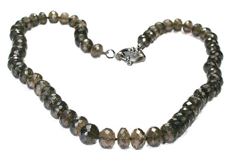 Brown Smoky Quartz Beaded Necklaces 17 Inches