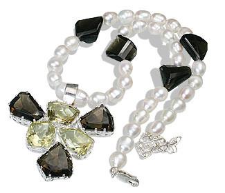 Multi-color Multi-stone Beaded Pendant Necklaces 16 Inches