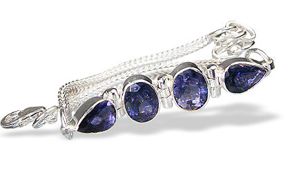 Blue Iolite Silver Setting Bracelets 7 Inches