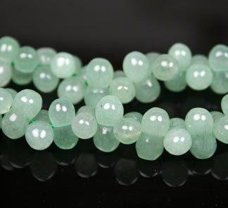 Green Aventurine Beaded Beads 16 Inches