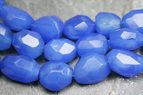 Blue Onyx Beaded Faceted Beads 16 Inches