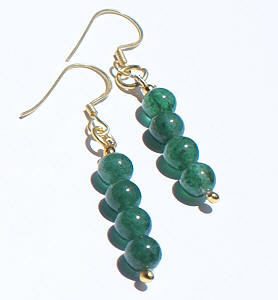 Green Aventurine Beaded Earrings