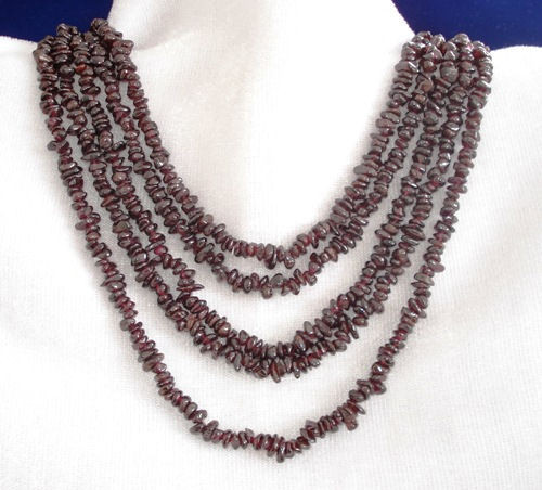 Red Garnet Chunky Necklace 17 Inches