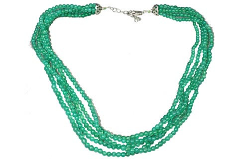 Green Onyx Beaded Brides-maids Necklaces 16.5 Inches