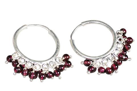 Hoop Garnet Earrings
