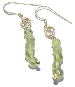 Green Peridot Beaded Earrings