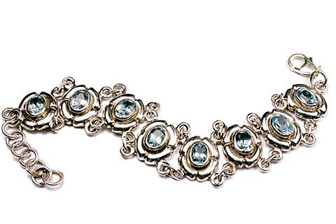 Gothic-medieval Blue Topaz Bracelets
