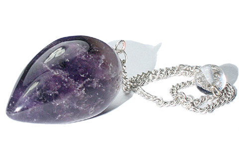 Purple Amethyst Beaded Pendulum Healing 1.5 Inches