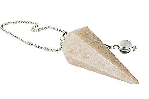 Brown Moonstone Beaded Pendulum Healing 1.5 Inches