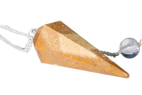 Yellow Jasper Beaded Pendulum Healing 1.5 Inches