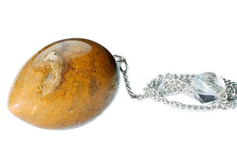 Yellow Jasper Beaded Pendulum Healing 1.25 Inches