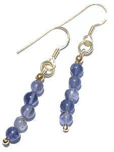 Blue Iolite Beaded Earrings