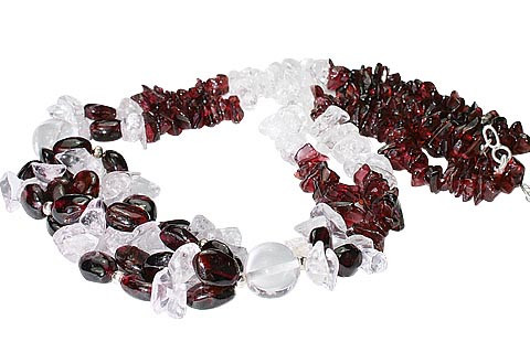 Chipped Garnet Necklaces