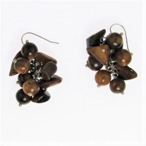 Tiger Eye Grape Earring