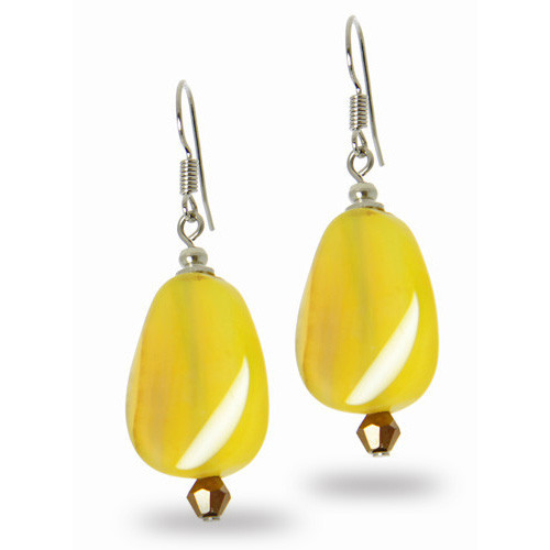 Yellow Agate Earrings