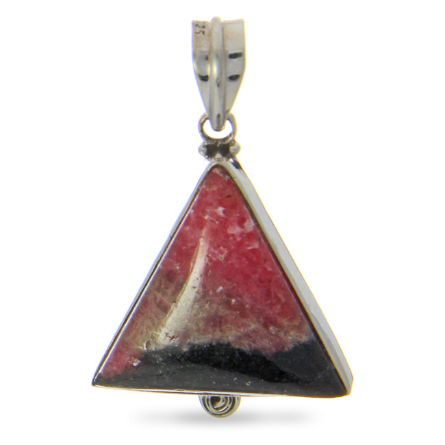 Rhodonite Triangle Pendant