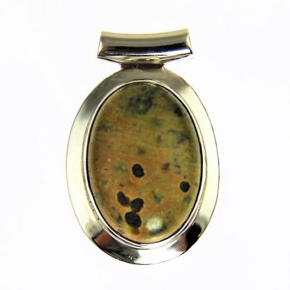 Stichtite Sterling Silver Oval Pendant