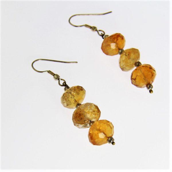 Faceted Garnet Hessonite Earrings