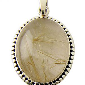 Golden Rutilated Quartz Pendant 16