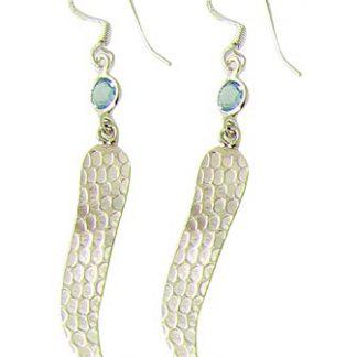 faceted blue topaz earrings 2