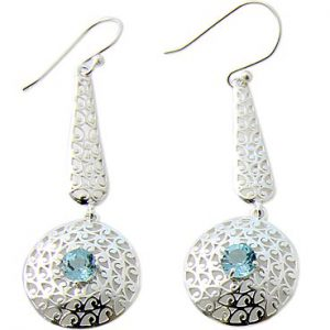 faceted blue topaz earrings 4