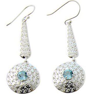 faceted blue topaz earrings 4